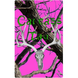 Real Tree Green & Pink Hunting Tag