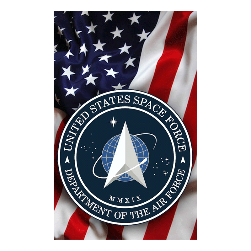Space Force Flag Hunter Tag