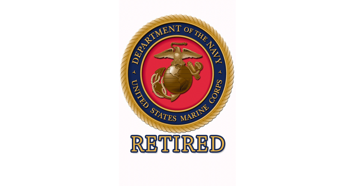 Retired Marine hunting Tag