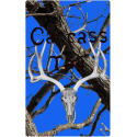 black and blue hunter tag
