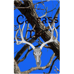 Real Tree Black & Blue Hunting Tag