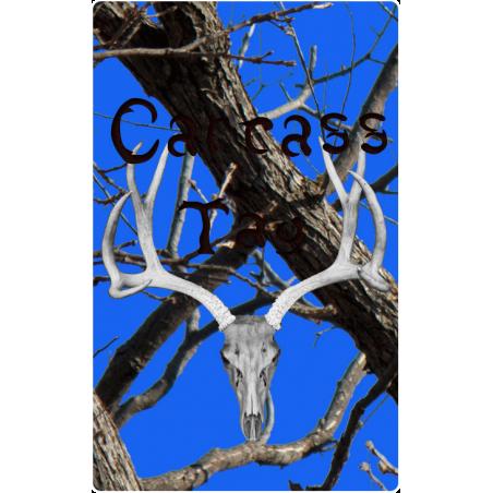 black and blue hunter tag