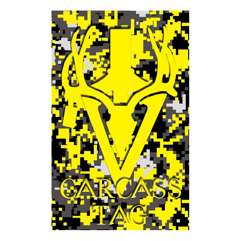 Pixel Big Game Tag Yellow