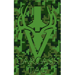 Pixel Big Game Tag Green