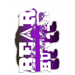 Bear Tag Purple