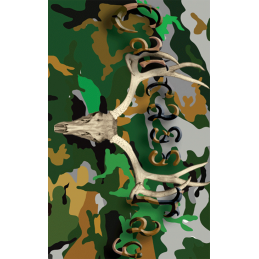 Camo Green Deer Tag