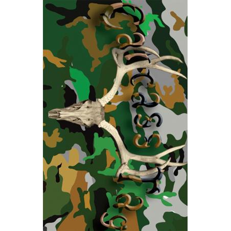 Camo Green Deer Tag
