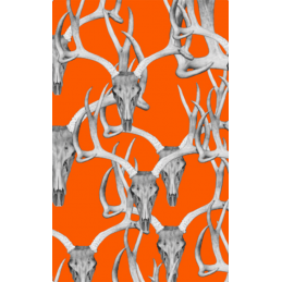 Orange Skull Tag