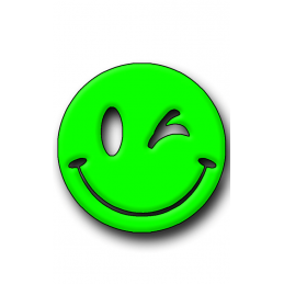 Green Smiley Hunting Tag