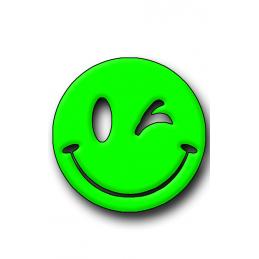 Green Smiley Hunting Tag