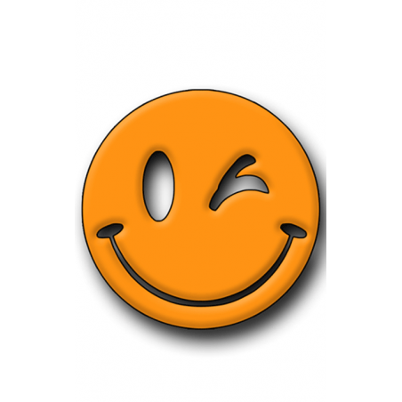Orange Smiley Hunting Tag