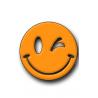 Orange Smiley Hunting Tag