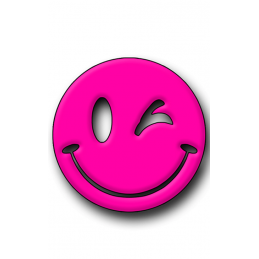 Pink Smiley Hunting Tag