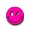 Pink Smiley Hunting Tag