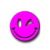 Purple Smiley Hunting Tag
