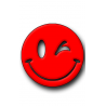 Red Smiley Hunting Tag