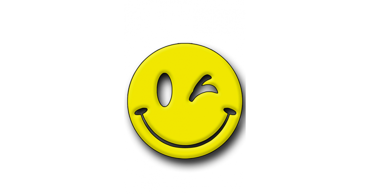 Yellow Smiley Hunting Tag