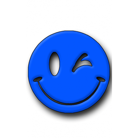 Blue Smiley Hunting Tag