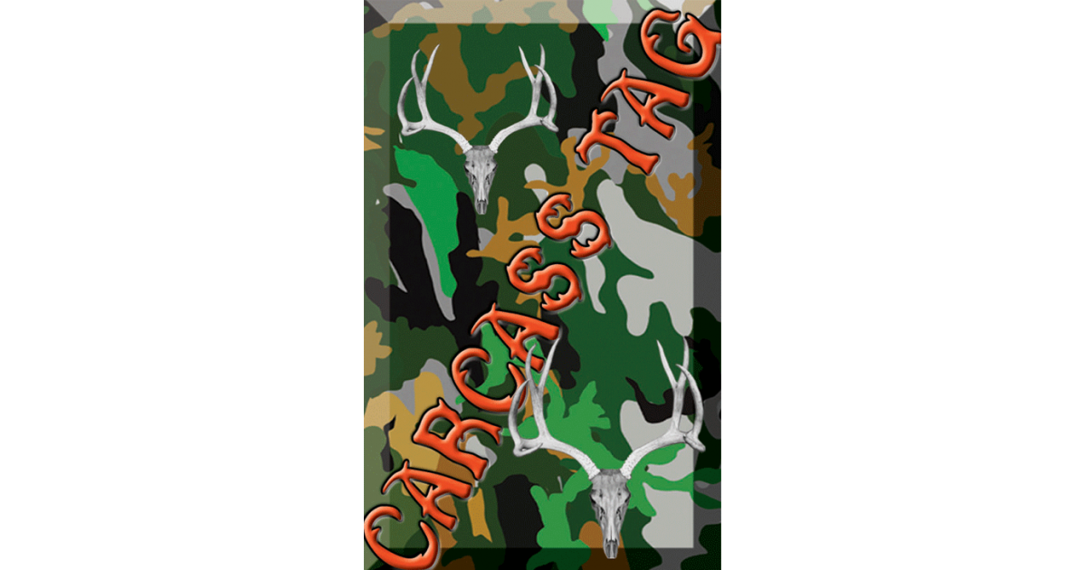 Camo Hunt Tag Green