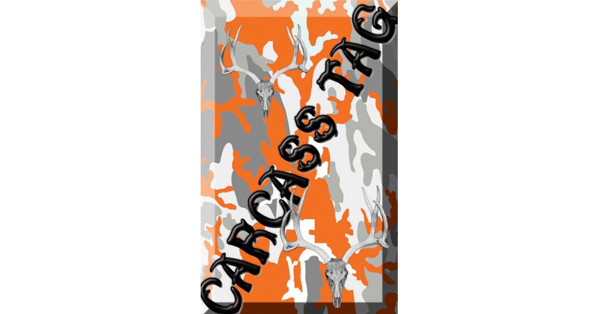 Camo Hunt Tag Orange