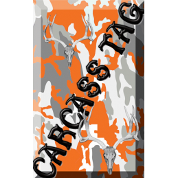 Camo Hunt Tag Orange