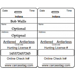 Canada Hunting Tag