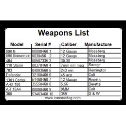 Gun Record Keeper