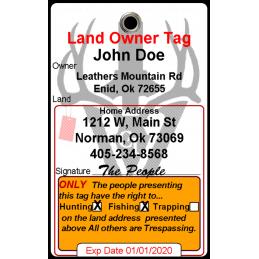 Maine Land Owner Courtesy Card