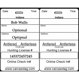 Hunting and Fishing Dog Tags